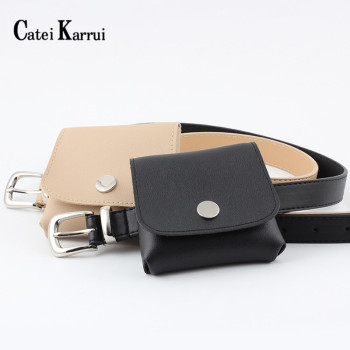 Catei Karrui Adjustable belt bag leisure women belt fashion women belt leather belt bag outdoor leisure bag belt for women цена 2017