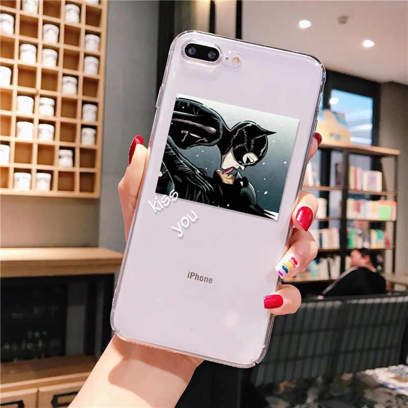 Śmieszne słodkie dziewczyny księżniczka batman przezroczyste miękkie etui na telefon tpu pokrywa dla iPhone 11 pro XS MAX 8 7 6 6S Plus X XR 5 5S SE