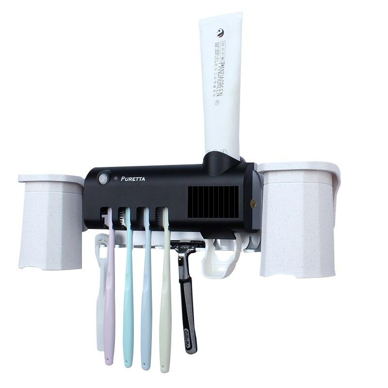 Presse-dentifrice automatique avec porte-brosse à dents avec tasses magnétiques ensemble de salle de bain