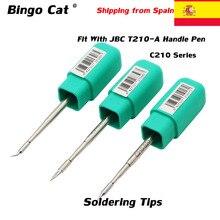 Original JBC Lötkolben Spitze C210020 C210002 C210008 C210009 C210027 C210019 Löten Tipps Fit Mit JBC T210-A Griff Stift