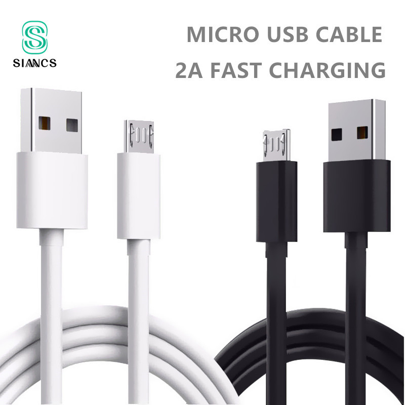 30cm 1m Micro USB Cable 2A Fast Charging Mobile Phone Charger Cables Date Cord Wire for Sumsung Xiaomi Huawei Android Tablet