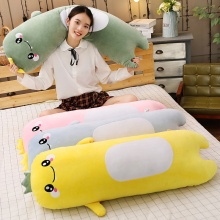 Lovely High Quality Lovely Dinosaur Plush Long Pillow Soft Cartoon Animal Stuffed Doll Sofa Bed Cushion Children Birthday Gift стоимость