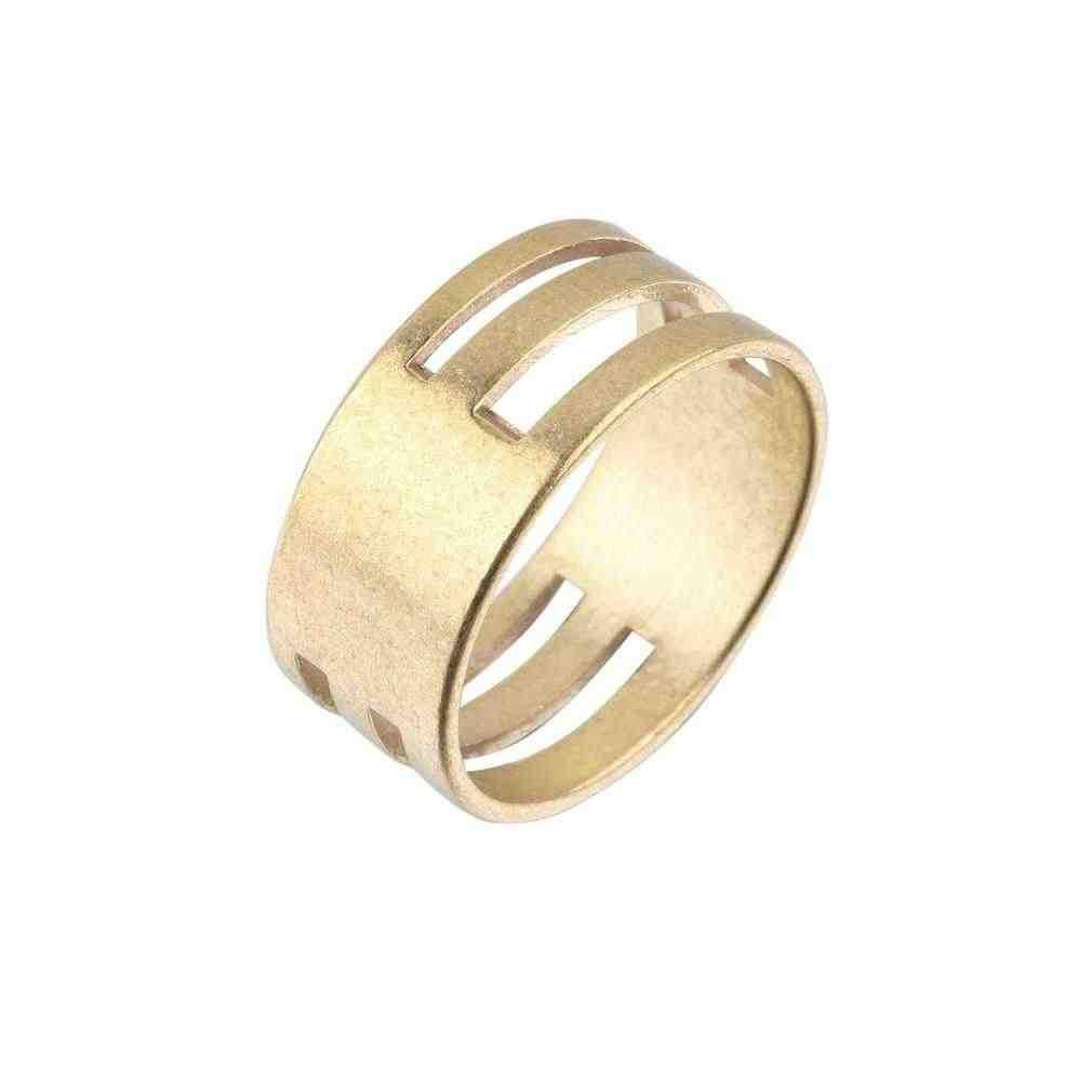 Latón en bruto Color anilla de engarce abierta y herramientas de cierre anillos de dedo DIY pendientes herramientas de trabajo a mano anillo joyas hallazgos