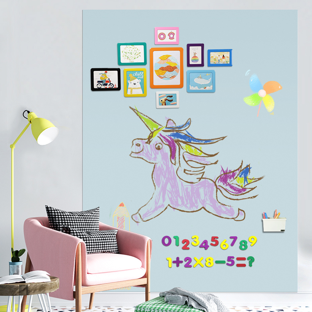 Magnetic Chalkboard For Wall Hold Magnets Black Board Decor Sticker Paper Chalks Learning Writing Painting Art Note Memo Board