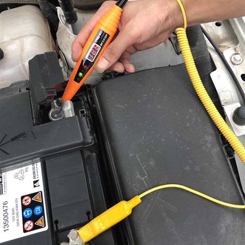 Audew 2.5-32V Spring Line Car Digital LCD Electric Voltage Tester Pen Probe Detector Tester LED Light For Auto Car Testing Tool
