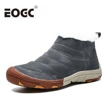 купить Winter Plush Warm Men boots With fur Snow Boots Men Footwear Rubber Ankle Boots Winter shoes men outdoor shoes plus size 46 дешево