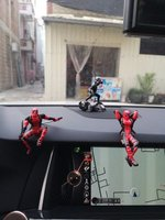 Cute 4 Small Deadpool Small Base X Men PC Companion Mini Bag Doll Garage Kit Decoration