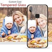 Funda de cristal templado personalizada para móvil, Funda personalizada para iPhone 12 Mini 11 Pro Max XS Max XR X SE 2020 8 7S 7 Plus 6 6s Plus