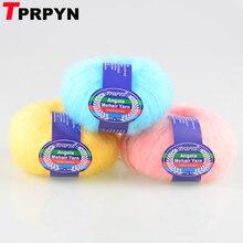 TPRPYN 250g = 10 قطعة أنغولا موهير غزل للحياكة اليدوية الصوف خيوط من الكروشيه إلى حك لانا خط خيوط خيط مجدول أفخم منتفخ الغزل