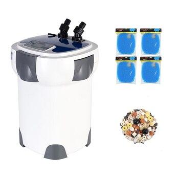 30W 3000L/h SUNSUN HW-3000 Aquarium Filter 5-Stage External Canister with 9W UV Sterilizer for 300-750L Fish Tank LCD Display 3000l