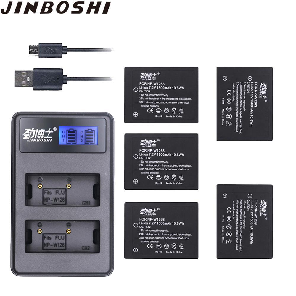 5pcs NP-W126S NP W126S Battery Packs + LCD USB Charger For Fujifilm Fuji NPW126S XT3 XA5 XT20 XT2 XH1 XT10 XE3 X100F Xpro2