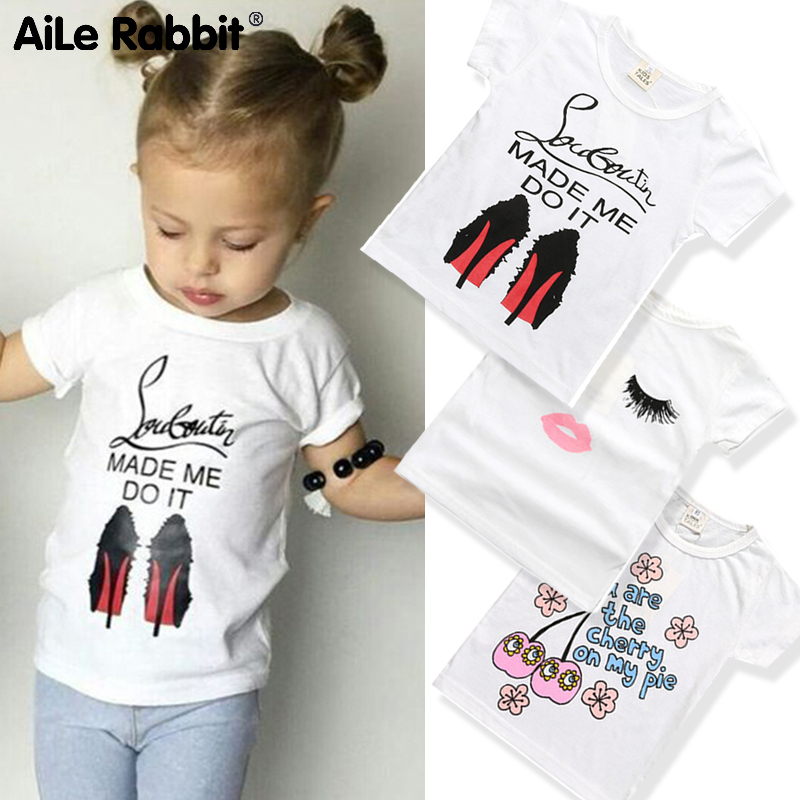 T-Shirt Cartoon Short-Sleeve Letter Girls 0-4-Years-Old Baby Cotton Summer And Soft