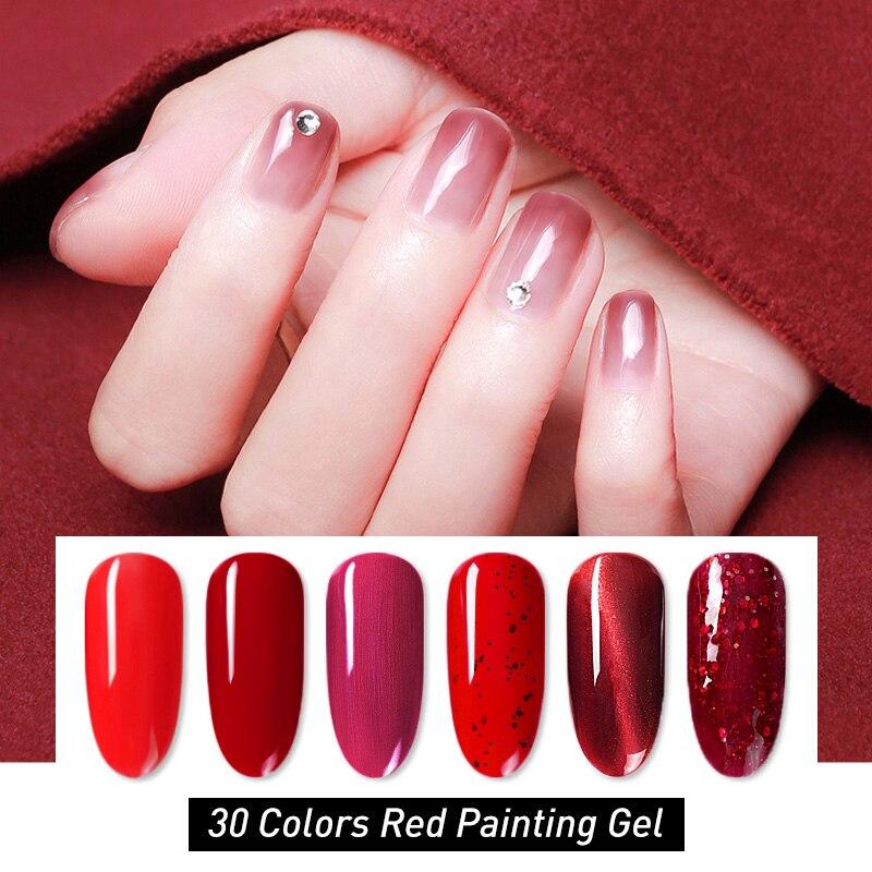 Venalisa Nail Gel Varnish Painting Gel High Quality Drawing Gel China Red Cat Eye Galaxy Nail Lacquer Pure Color Gel