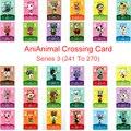 Серия 3 (от 241 до 270) карточка для скрещивания животных Amiibo Card  работает для NS 3DS Switch Game New Horizons Tangy Wolfgang Marshal Card