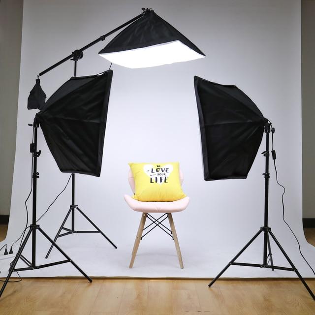 Professional Photo Studio Softbox Lights Continuous Lighting Kit Accessories Equipment With 3Pcs Soft Box,LED Blub,Tripod Stand 5