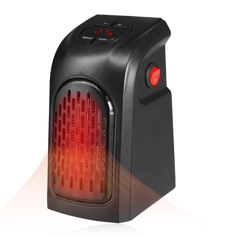 400W Fan Heater EU Mini Handy Heater Plug-In 400W Electric Wall Heater Stove Hand Warmer Programmable Radiator 200-240V