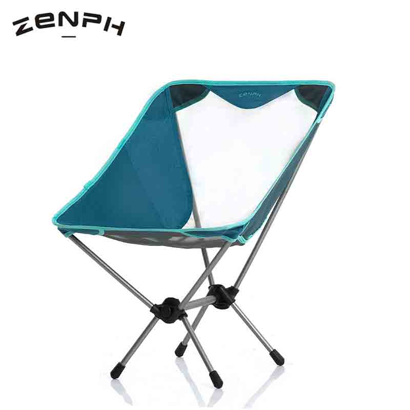 Zenph Outdoor Travel Moon Folding Chair Fishing BBQ Stool Aluminum Alloy Ultra Light Portable Picnic Camping