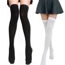 Chaussettes hautes en Nylon pour femmes, bas de cuisse hauts au-dessus du genou pour filles dames, bas longs et Sexy