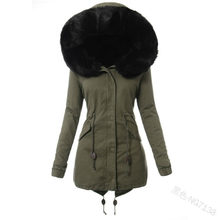 Women Fall Winter Warm Black Cotton Padded Jackets Gothic Long Casual Hooded Quilted Coats Female Leisure Street Wear Outwears(China)
