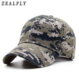 ACU Digital Men Baseball Caps Army Tactical Camouflage Cap Outdoor Jungle Hunting Snapback Hat For Women Bone Dad Hat(China)