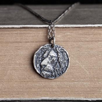 цена Emith Fla Necklaces & Pendants 925 Sterling Silver Necklace Pendant Round Women Men Silver Jewelry Thai Silver European Style онлайн в 2017 году