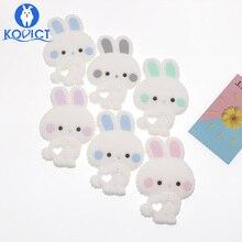 kovict rabbit Baby silicone Teether food Free BPA Silicone Teething beads Nursin