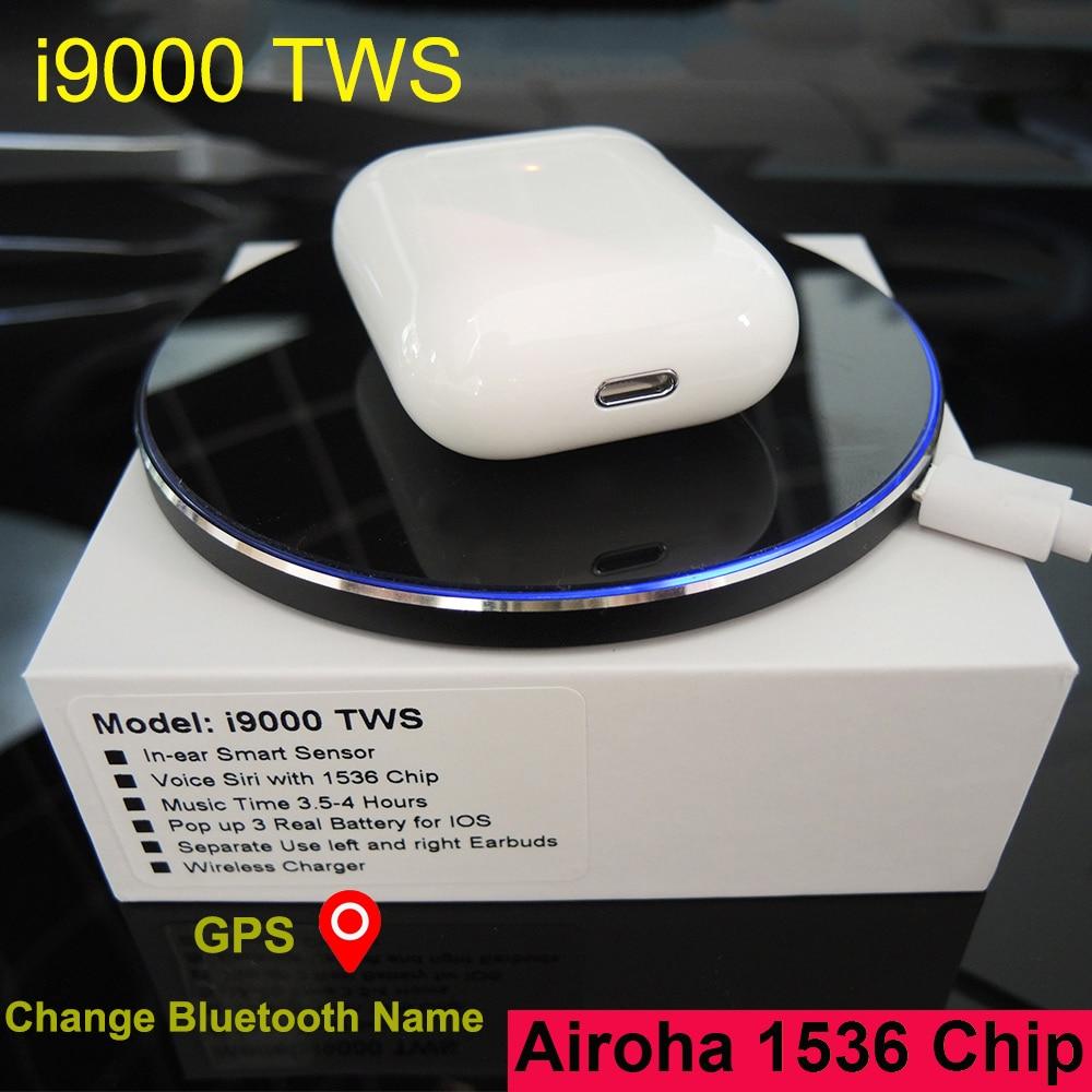 I9000 TWS sans fil écouteur GPS emplacement pour IOS changer Bluetooth nom charge Bluetooth écouteurs PK i200 i500 i2000 i5000 TWS