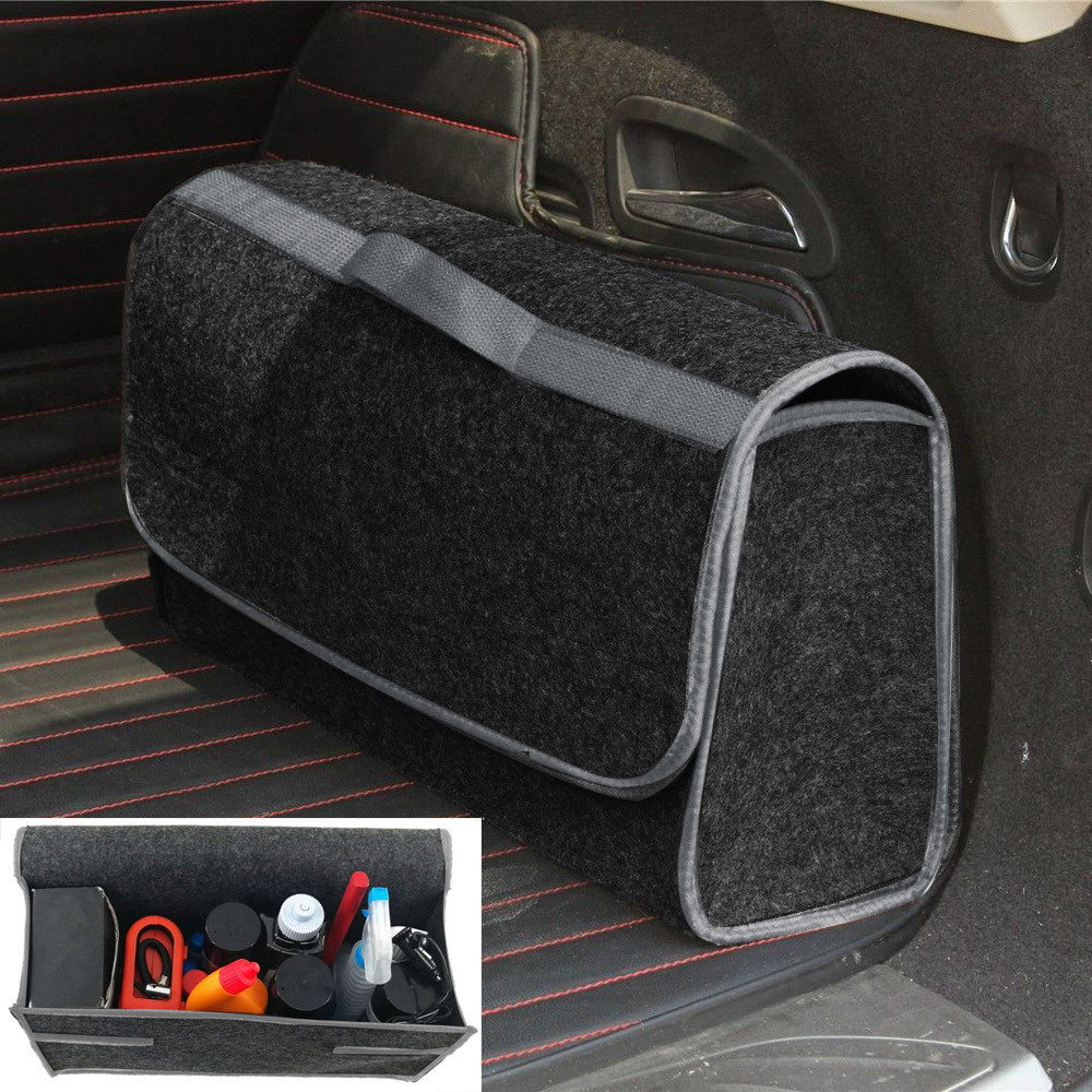 Trunk-Bag Storage-Box Cargo-Organizer Soft Felt Foldable Vehicle-Tool-Box Collapse-Bag title=