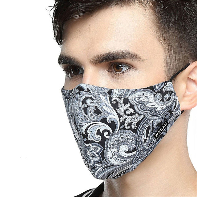 korean Cotton Anti Dust Mouth Face Mask Kpop Fabric Face Mask with Carbon Filter Anti Haze Flu PM2.5 Black Mask on the Mouth 5
