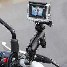 Jazda motocyklem statyw lusterko wsteczne regulowana metalowa podpora stała podstawa do kamery sportowe GoPro Hero 8/7/6