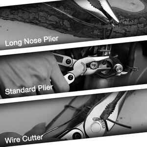 Image 5 - WORKPRO 15 w 1 Multi szczypce ze stali nierdzewnej Multitool szczypce do zdejmowania izolacji scyzoryk do zaciskania kabli