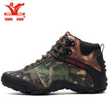 XIANG GUAN Men High Top Tactical Boots Male Hiking Shoes Women Waterproof Trekking Sneakers Outdoor Sport Jogging Trainers цена и фото