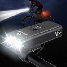 Bicycle-Light Front-Lamp Usb-Charging Aluminum 1200 Lumens X-TIGER Rainproof LED MTB