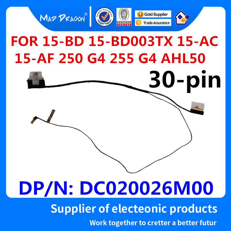 Cable Length: As Photo Show Computer Cables Laptop LCD Cable for DELL E6540 VALA0 EDP 30PIN,ORG PN:DC02C009M00 0RDYP1 Screen LVDS Connector