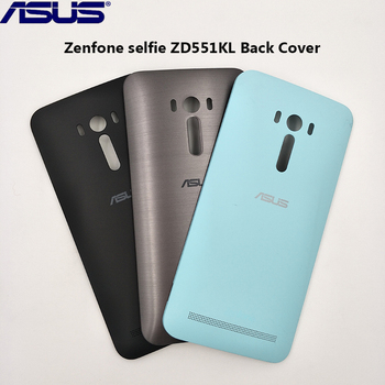 Original Back Housing Rear Door Cover For Asus Zenfone selfie ZD551KL Plastic Replacement Parts Case With Power Button 5.5 inch