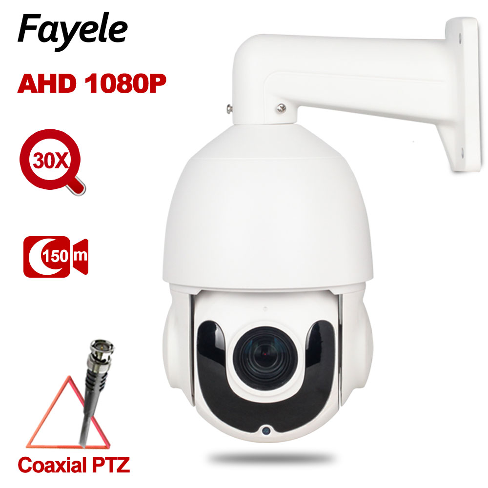 "IP66 Outdoor 4 ""MINI Speed ​​Dome PTZ Kamera AHD 1080P TVI CVI CVBS 4IN1 2.0MP 30X Zoom Autofokus IR 150M Koaxial PTZ Steuerung"