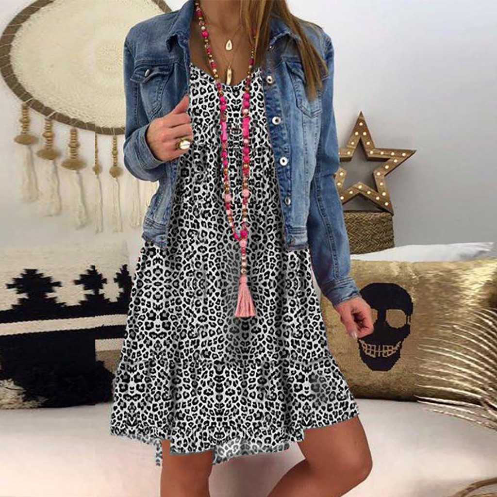 H9bdd6396e62d4d0f875d1d0beaa7bd7ea JAYCOSIN plus size dress women summer dress Loose Ladies dresses woman Leopard Print Long Sleeve Dress girl vestidos wholesale 7