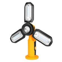 Открытый светильник ing рыболовная Магнитная база Складная с крюком портативный кемпинг светодиодный рабочий светильник на батарейках фонарик для осмотра
