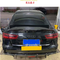 For Audi A6 C7 / 4G 2012 UP Fit 4 Door Sedan Only Carbon Fiber Rear Roof Spoiler Wing Trunk Lip Boot Cover Car Styling