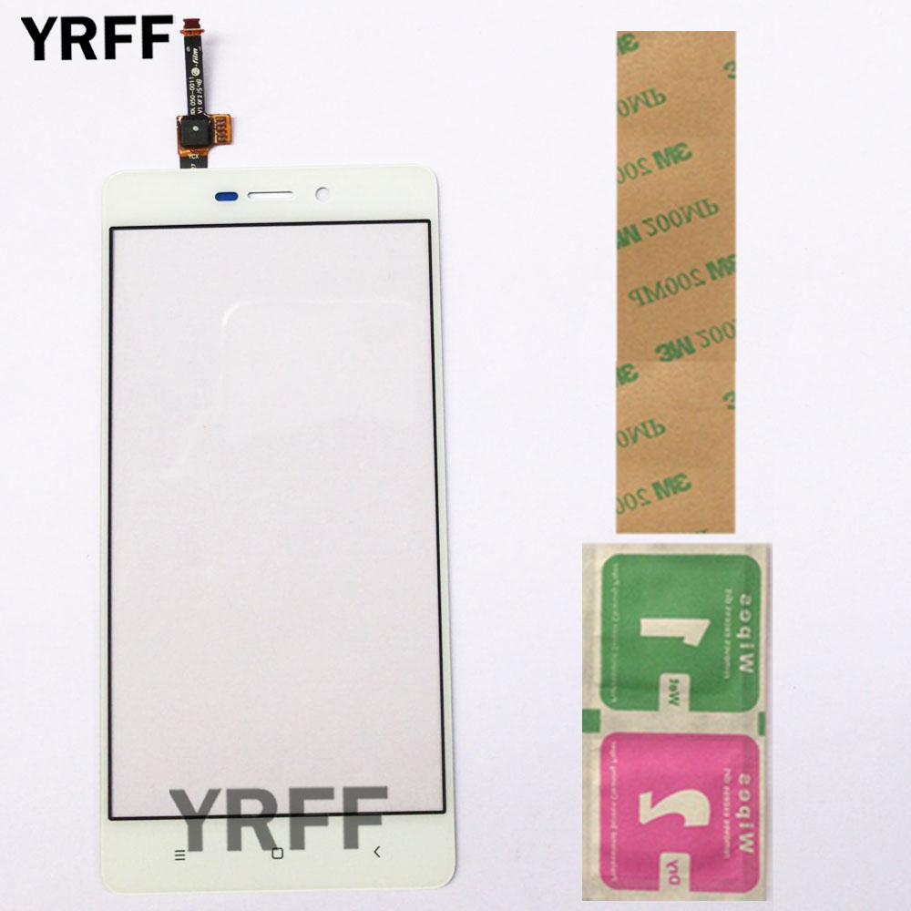 Front Digitizer Panel For Xiaomi Redmi 3 3S 3X 3 Pro Prime 3Pro Touch Screen Sensor Digitizer Outer Glass 3M Glue Wipes