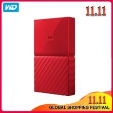 100% Original Western Digital My Passport HDD 1TB 2TB 4TB USB 3.0 Portable External Hard Drive Disk with HDD Cable Windows Mac