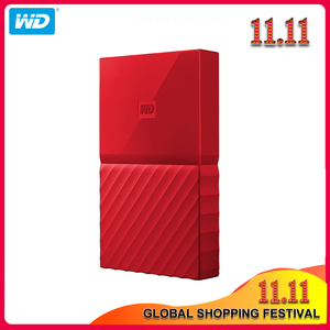 Image 1 - 100% Original Western Digital My Passport HDD 1TB 2TB 4TB USB 3.0 Portable External Hard Drive Disk with HDD Cable Windows Mac