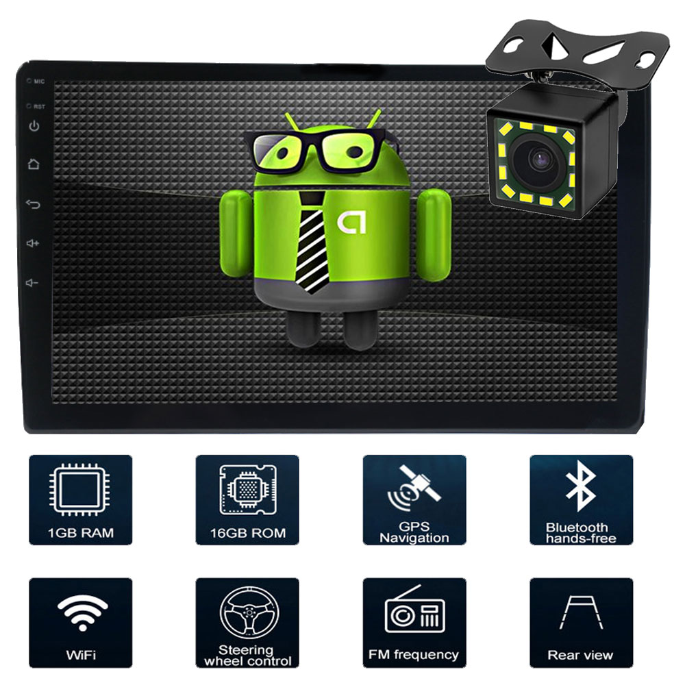 10.1 Car Multimedia Player 2 din android car radio autoradio coche audio stereo Video Wifi doble din GPS Bluetooth Mirror-link image