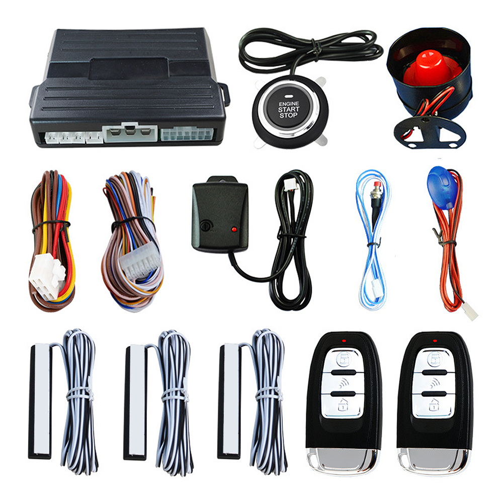 Système d'alarme de voiture PKE entrée sans clé de voiture démarrage à distance du moteur démarrage de la voiture système d'arrêt à distance clé intelligente PKE