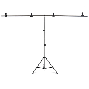 T-Shape Portable Background Backdrop Support Stand Kit 6.5ft Wide 6.5ft Tall Adjustable Photo Backdrop Stand with Spring Clamps 200cm 300cm grey background backdrop cloth with 2 6m 3m 8 5ft 9 8ft photo background backdrop stand support kit