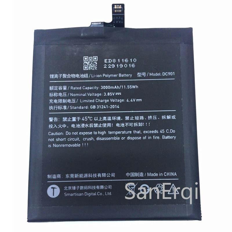 3000 мАч/11.55Wh DC901 запасная батарея для смартфона Smartisan M1 SM901 встроенный литий-ионный аккумулятор литий-полимерная батарея