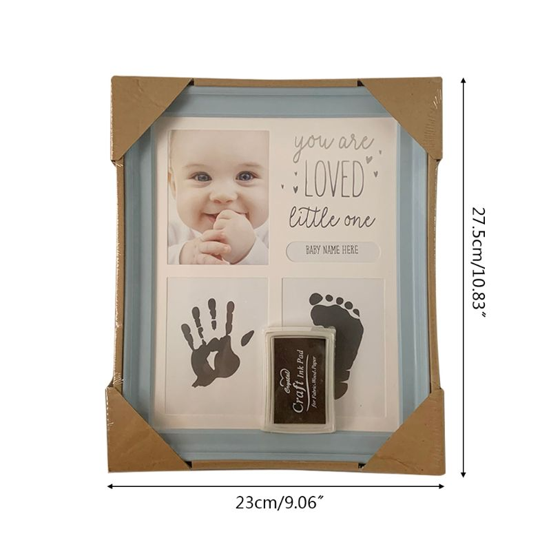 Baby Kids Birthday Gift Newborn Hand Foot Print Ornaments 12 Months Photo Frame U50F