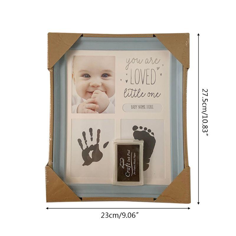 Baby Kids Birthday Gift Newborn Hand Foot Print Ornaments 12 Months Photo Frame U50F