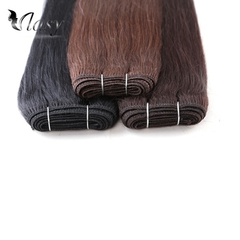 цена на Vlasy 20'' Natural Brazilian Remy Human Hair Weave Bundle Dark Color Straight Double Drawn Human Hair Weft Extensions 100g/piece