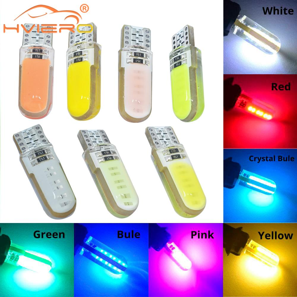 T10 W5W White Red COB LED Silicagel Waterproof 194 147 501 Wedge Led Car Marker Light Reading Dome Lamp Auto Parking Bulb DC 12V